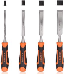 KSEIBI 312130 Premium Wood Chisel Set Chrome Manganese Blades for Woodworking