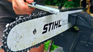 How to sharpen chain saw blade?