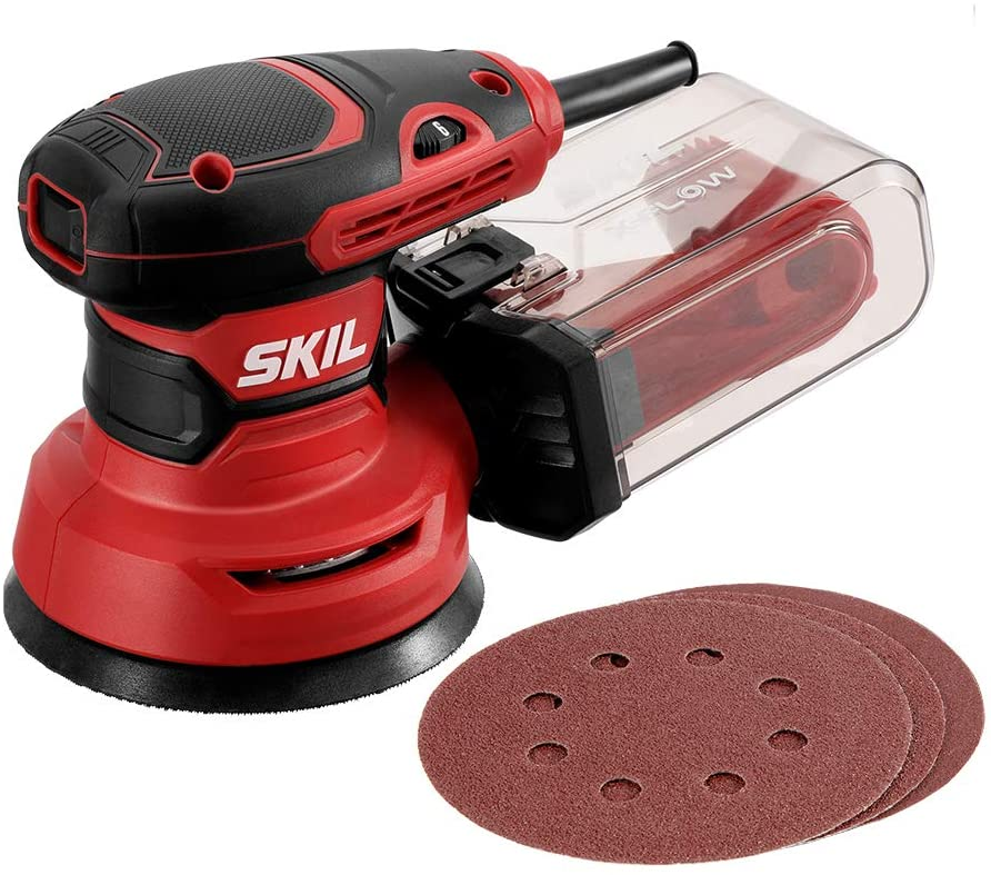"SKIL 5"" Random Orbital Sander with Sanding Papers and Dust Box"