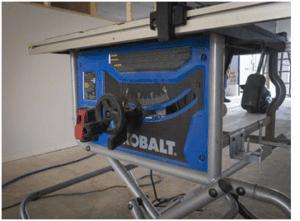 KOBALT KT10152 Portable Table Saw